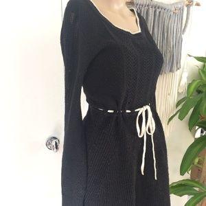 Victoria's Secret Black Knitted Sweater Dress